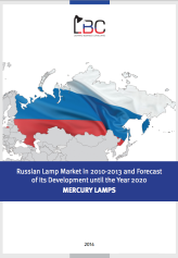 Mercury lamp market of the Russian Federation in 2010 — 2013