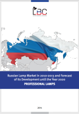 Professional lamp market of the Russian Federation in 2010 — 2013